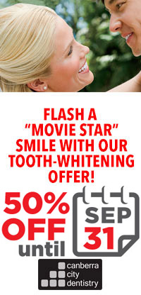 Tooth whitening banner Sept50